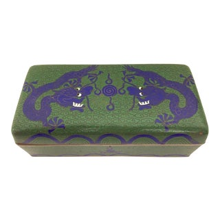 20th Century Chinese Dragon Cloisonné Box For Sale