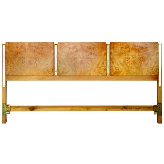 Burl Olive Ash King Headboard by Thomasville For Sale
