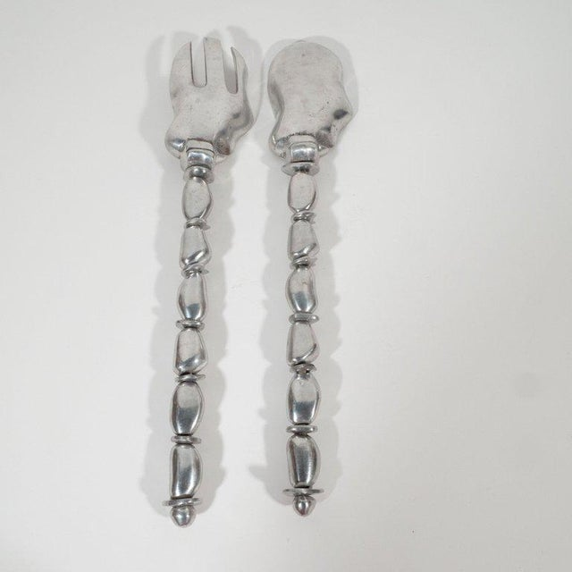 Mid-Century Modern Mid-Century Modern Polished Aluminium Serving Set by Arthur Court For Sale - Image 3 of 12