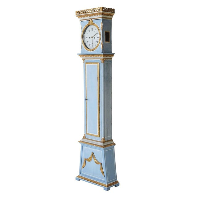 Gustavian (Swedish) Early 19th Century Vintage Mora Clock For Sale - Image 3 of 5