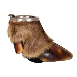 Early 20th C. Taxidermy Elk Hoof Ashtray For Sale