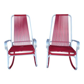 Vintage Aluminum Rocking Chairs - a Pair For Sale