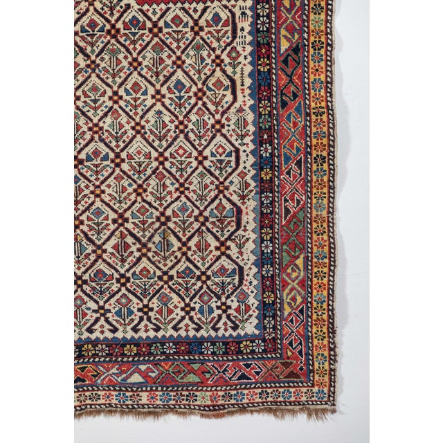 Shirvan 19th Century Caucasian Rug - 3′11″ × 5′6″ For Sale - Image 4 of 9