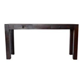Primitive 2-Drawer Teak Console
