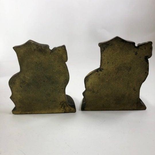 "Mid-Century Brass North African Bookends | Sahara | Camel Decor | 6"" x 5"" Patina as seen in photos."