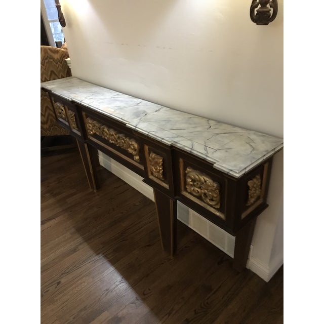 1900 - 1909 Antique Narrow Neoclassical Italian Console Table For Sale - Image 5 of 12