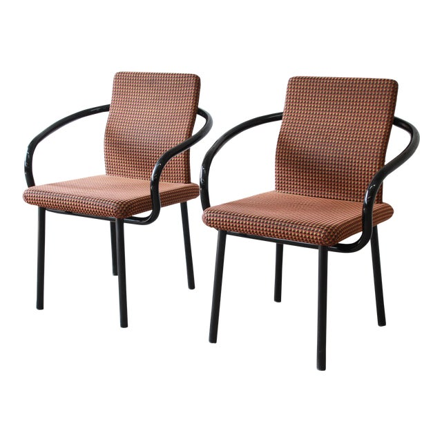 """Ettore Sottsass for Knoll """"Mandarin"""" Armchairs - a Pair For Sale"""