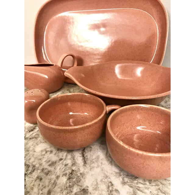 1950s 1950s Russel Wright Steubenville Pink Pottery Assortment - Set of 7 For Sale - Image 5 of 13