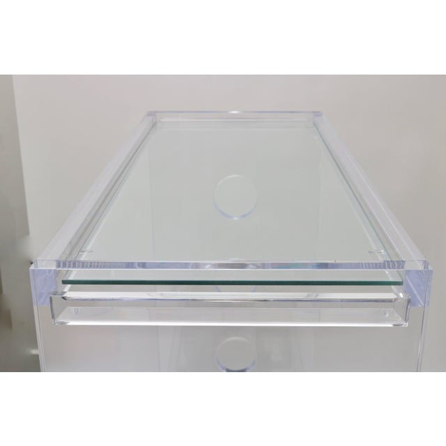 Lucite and Mirror Bespoke Bar Cart by Alexander Millen For Sale - Image 9 of 11