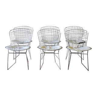 Mid Century Modern Styled Bertoia Wire Chairs For Sale