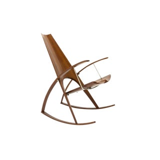 Studio Craft Rocking Chair by Leon Meyer - 1977 For Sale