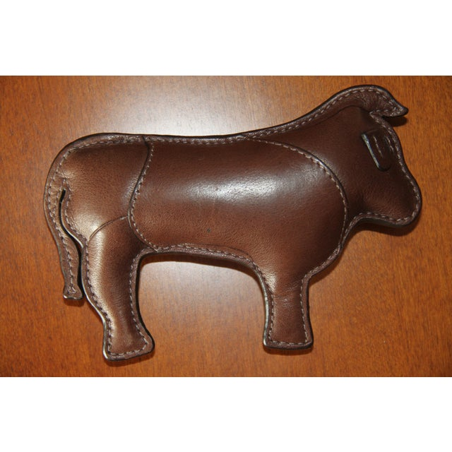 Leather Coach Signature Leather-Embossed Paperweight (Year of the Ox) For Sale - Image 7 of 7