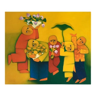 Modernist Painting by Duc Nghia Phan For Sale