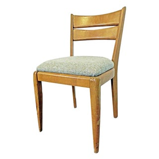 Mid-Century Modern Heywood Wakefield Cat's Eye Champagne Side/Dining Chair M151 For Sale