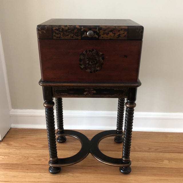 Traditional Hooker Furniture Living Room Dynasty Box on Stand For Sale - Image 13 of 13