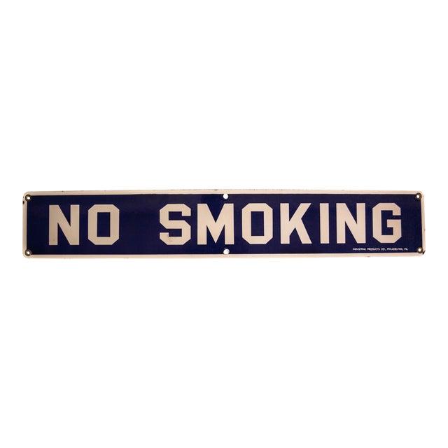 Vintage No Smoking Porcelain Sign - Image 1 of 6