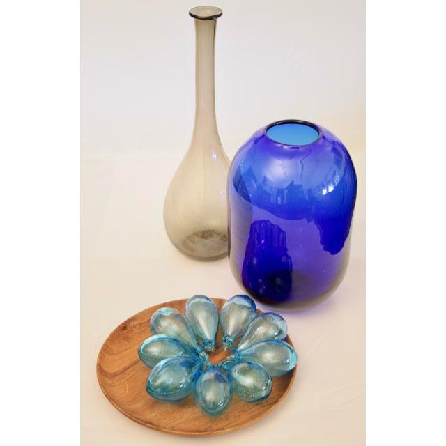 Glass Don Shepherd Blenko 8016 Sculptural Modernist Vase For Sale - Image 7 of 9
