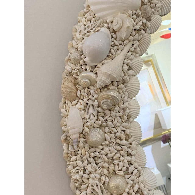 White White Seashell Encrusted Mirror bySnob Galeries For Sale - Image 8 of 13