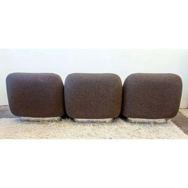 1970s 1970s M. F. Harty for Stow Davis Tomorrow Sofa Chairs and Table Suite - Set of 4 For Sale - Image 5 of 11