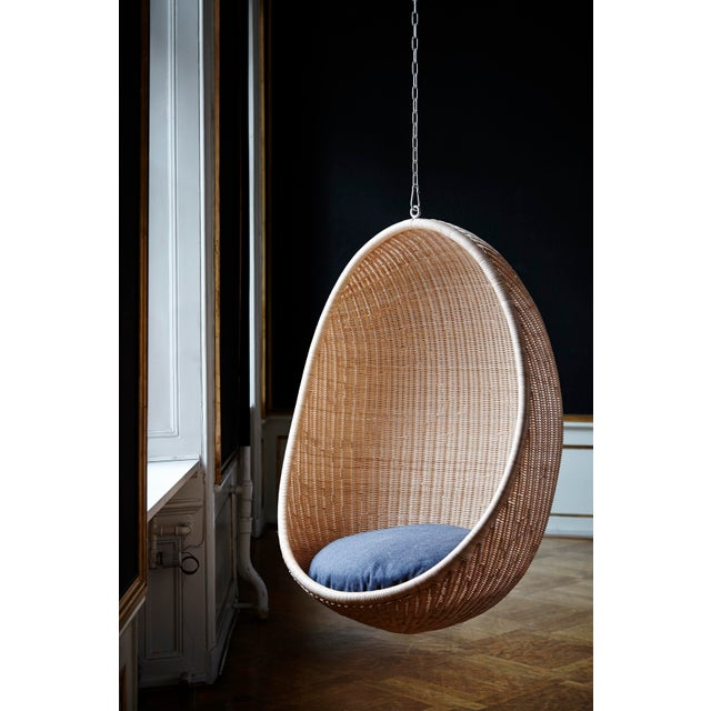 Not Yet Made - Made To Order Nanna Ditzel Hanging Egg Chair - Natural - Sunbrella Sailcloth Shade Cushion with 5 Foot Chain For Sale - Image 5 of 11