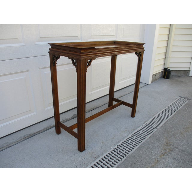 Mid 20th Century Chippendale Style Console Table For Sale - Image 5 of 11