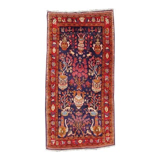 Hand-Knotted Wool Village Rug - 5″ × 9″ For Sale