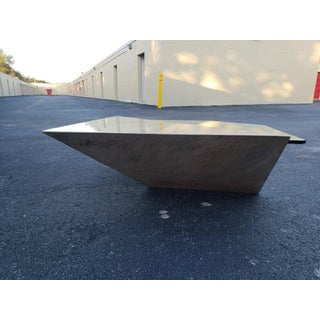 1970s Vintage Post Modern Geometric Cantilever Coffee Table Preview