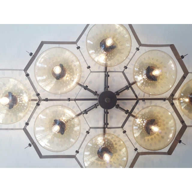 Gold Beehive Flush Mount by Fabio Ltd For Sale - Image 8 of 11