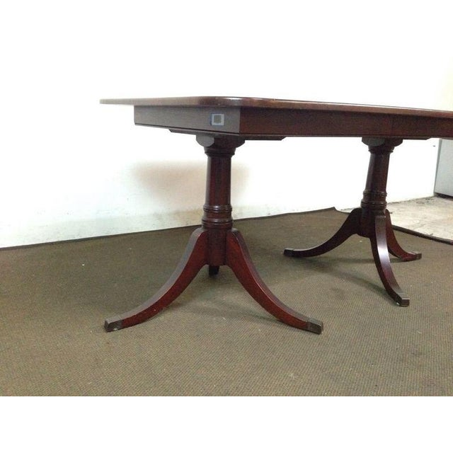 Mahogany Double Pedestal Dining Table - Image 5 of 8