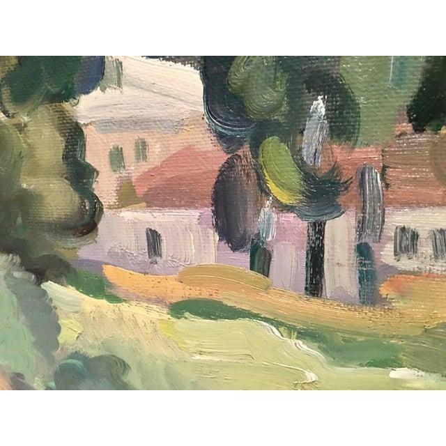 Original Oil on Burlap Landscape Painting - Image 5 of 10