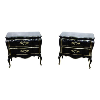 20th Century Louis XV Dixon Powdermaker Nightstands - a Pair