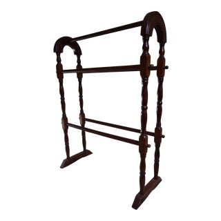 Vintage Mahogany Blanket Rack For Sale