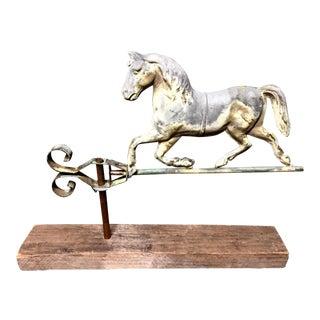 Gilt Metal Weathervane Trotting Horse