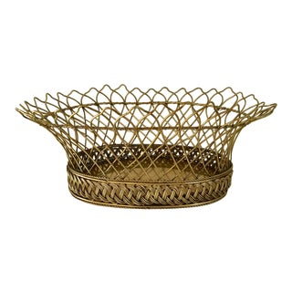 French Hand-Made Wire Basket