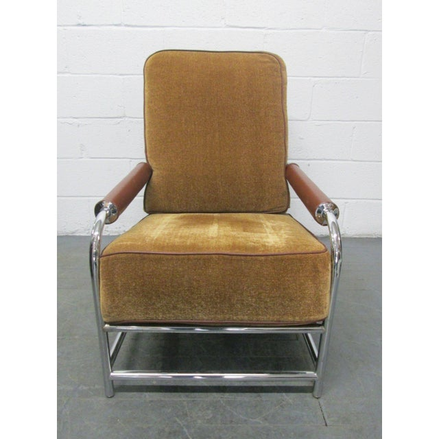 1960s Streamline Chrome Lounge Chair For Sale - Image 5 of 6
