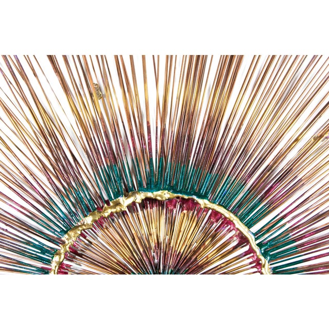 1950s Copper Sunburst Wall Sculpture For Sale In New York - Image 6 of 9