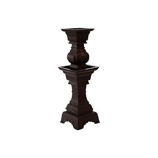 Asian Iron Candle Holder - Image 1 of 2