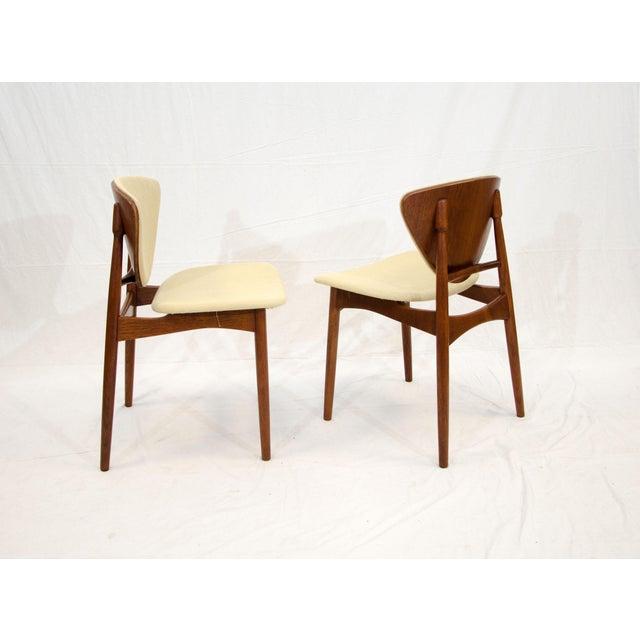 White Set of Six Danish Teak Dining Chairs, Arne Hovmand Olsen For Sale - Image 8 of 13