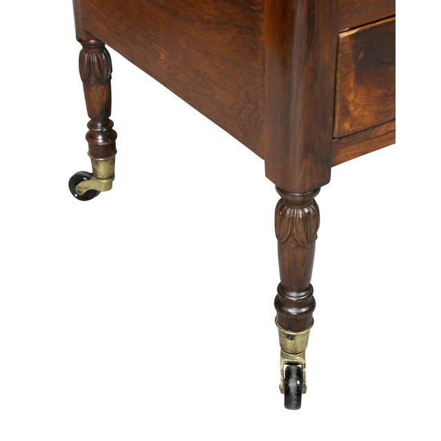 Early 19th Century Regency Rosewood Canterbury For Sale - Image 5 of 11