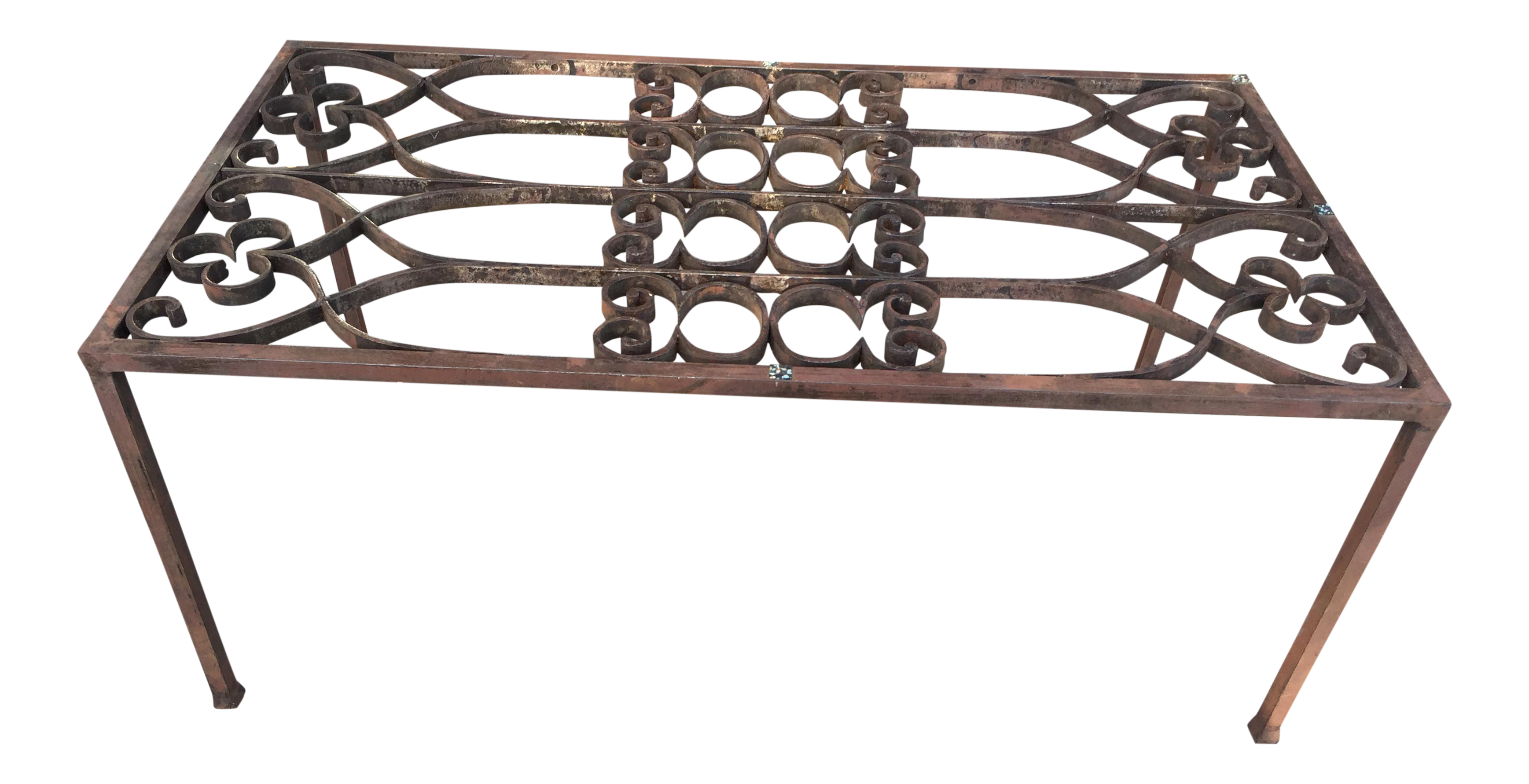 Charmant French Wrought Iron Gate Coffee Table
