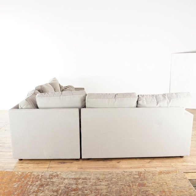 2010s Modern Room & Board Contemporary York Upholstered Sectional Sofa For Sale - Image 5 of 8