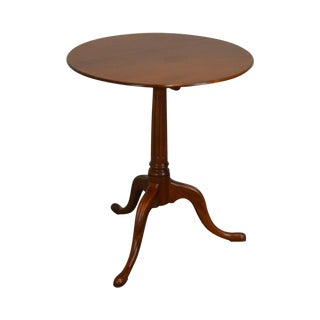 Kittinger Biggs Thomas Jefferson Mahogany Tilt Top Candlestand For Sale