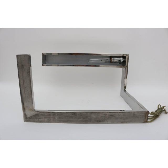 "Metal Milo Baughman Chrome ""Flat Bar"" Desk Lamp For Sale - Image 7 of 8"