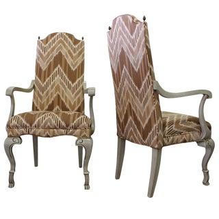 Pair of Ikat Regency Armchairs For Sale