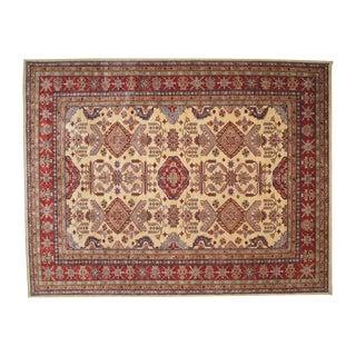 "Hand-Woven Wool Kazak Rug - 8' X 10'3"""