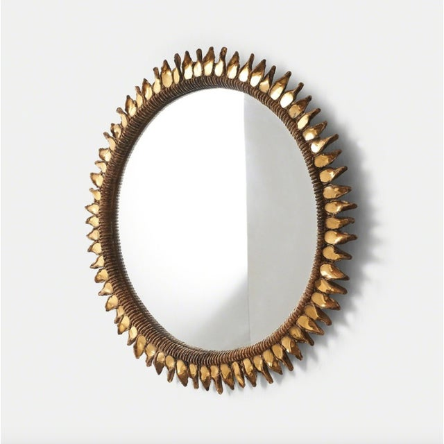 """Large """"Golden Thistle"""" Mirror by Line Vautrin, 1955-1965 For Sale In San Francisco - Image 6 of 6"""