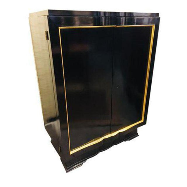 Black French Art Deco Bar Cabinet, Circa 1920's For Sale - Image 8 of 8