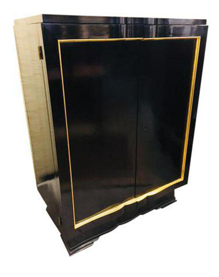 Gold French Art Deco Bar Cabinet, Circa 1920u0027s For Sale   Image 8 ...