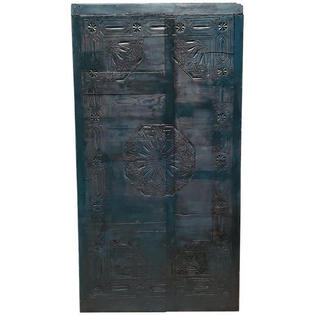 Wood 21st Century Vintage Moroccan Wooden Panel For Sale - Image 7 of 7