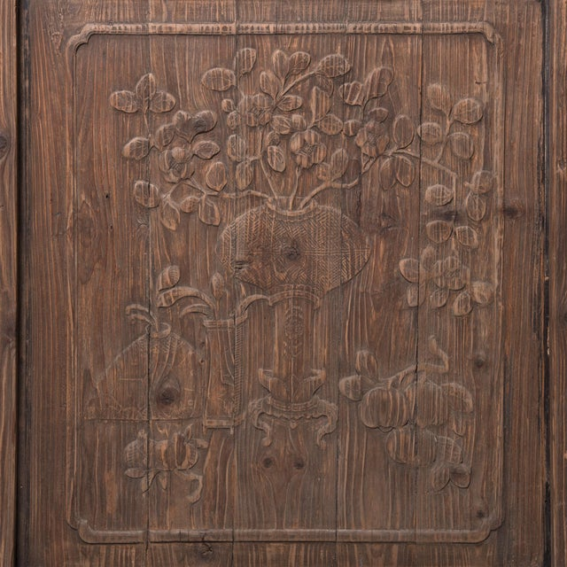 Chinese Architectural Panel With Seasonal Fruit and Flora For Sale - Image 4 of 6